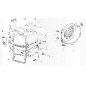 Plastique couvre moteur pièce no 6